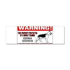 German Shepherd Warning Car Magnet 10 x 3