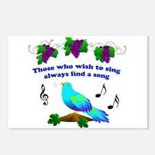 Singing Bluebird Postcards (Package of 8)