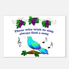 Singing Bluebird Postcards (Package of 8)