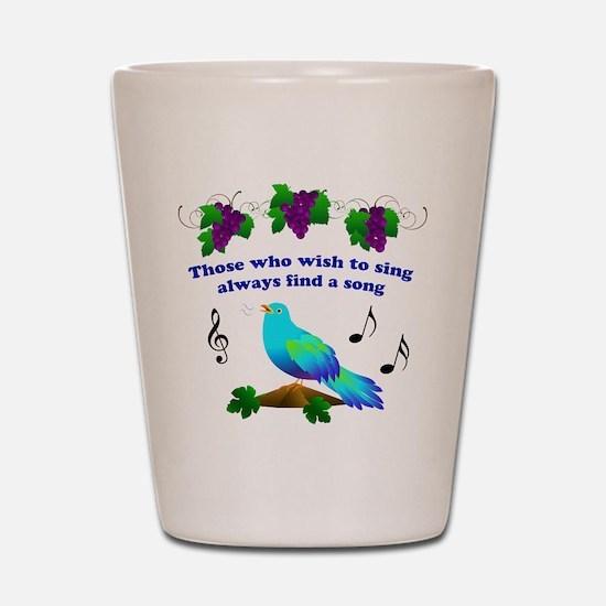 Singing Bluebird Shot Glass