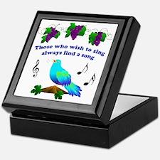 Singing Bluebird Keepsake Box