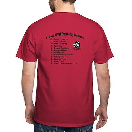 Pet Emergency Christmas Dark T-Shirt