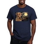 Moonlit Ridgeback Men's Fitted T-Shirt (dark)