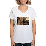 Moonlit Ridgeback Women's V-Neck T-Shirt