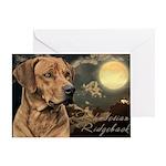 Moonlit Ridgeback Greeting Card