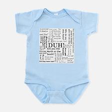 Cute Revolutionary war Infant Bodysuit