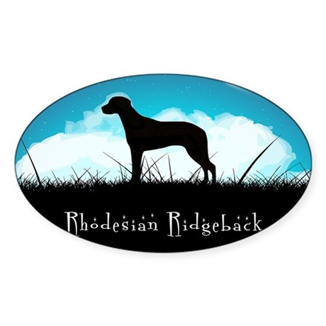 Nightsky Ridgeback Sticker (Oval 10 pk)
