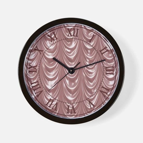 Pink Scalloped Satin Wall Clock