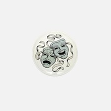 Vintage Comedy Tragedy Mask Mini Button (10 pack)