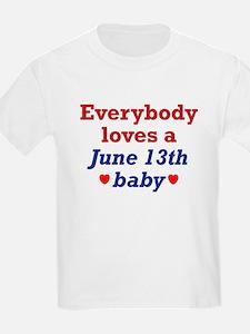June 13th Kids T-Shirt