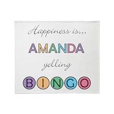 Amanda BINGO Throw Blanket