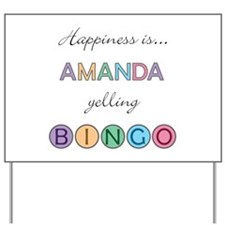 Amanda BINGO Yard Sign