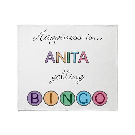 Anita BINGO Throw Blanket