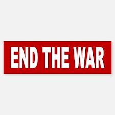 end the war... Bumper Bumper Bumper Sticker