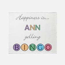Ann BINGO Throw Blanket
