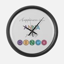 Anna BINGO Large Wall Clock