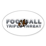 TOP Football Slogan Sticker (Oval 10 pk)