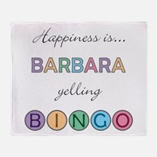 Barbara BINGO Throw Blanket