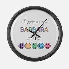 Barbara BINGO Large Wall Clock
