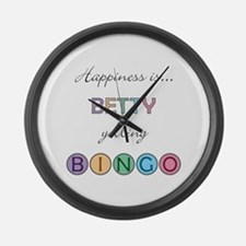 Betty BINGO Large Wall Clock