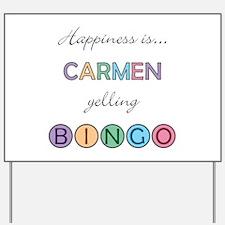 Carmen BINGO Yard Sign