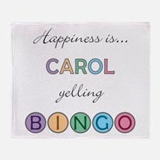 Carol BINGO Throw Blanket
