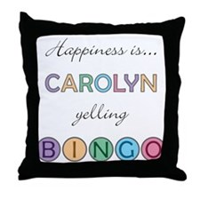 Carolyn BINGO Throw Pillow