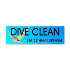 Dive Clean Car Magnet 10 x 3