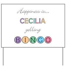 Cecilia BINGO Yard Sign