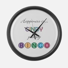 Cindy BINGO Large Wall Clock
