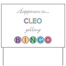 Cleo BINGO Yard Sign