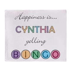 Cynthia BINGO Throw Blanket
