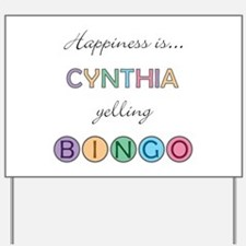 Cynthia BINGO Yard Sign