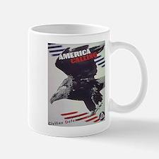 Patriotic America Calling Mug