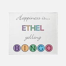 Ethel BINGO Throw Blanket