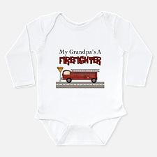 Grandpas A Firefighter Long Sleeve Infant Bodysuit