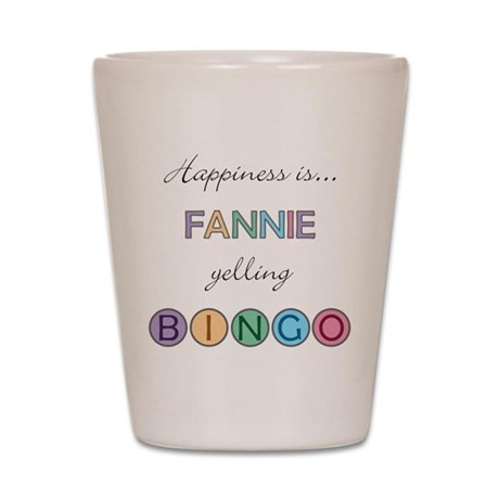 Fannie BINGO Shot Glass
