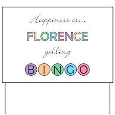 Florence BINGO Yard Sign