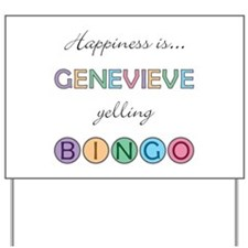 Genevieve BINGO Yard Sign