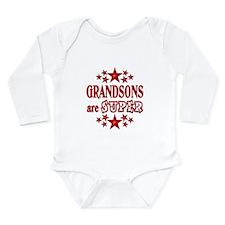 Super Grandson Long Sleeve Infant Bodysuit