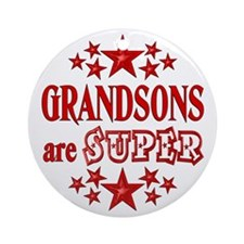 Super Grandson Ornament (Round)