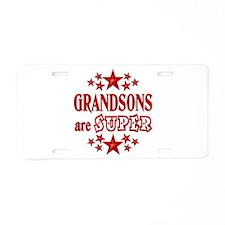 Super Grandson Aluminum License Plate