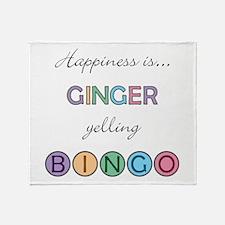 Ginger BINGO Throw Blanket