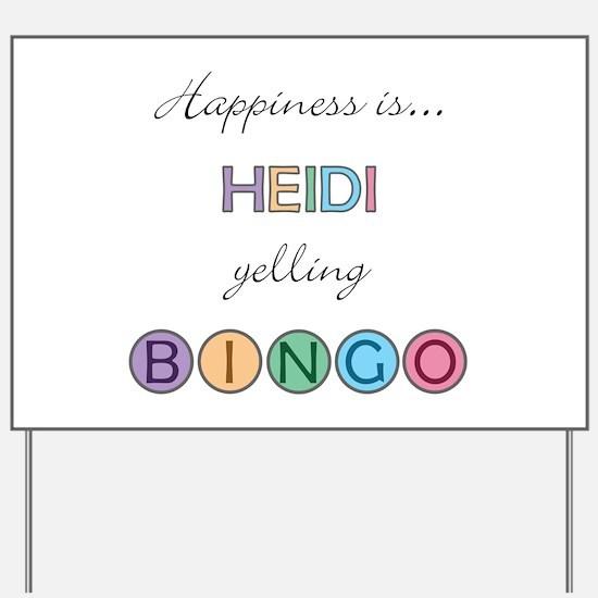 Heidi BINGO Yard Sign