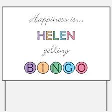 Helen BINGO Yard Sign