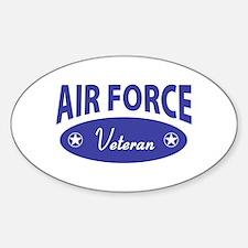 AF Veteran (Oval) Oval Decal