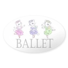 Ballerina Kitty Trio Decal