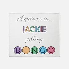 Jackie BINGO Throw Blanket