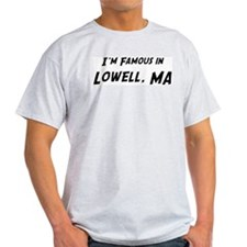 Famous in Lowell Ash Grey T-Shirt