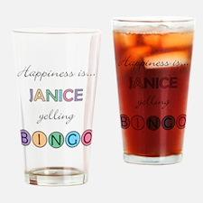 Janice BINGO Drinking Glass